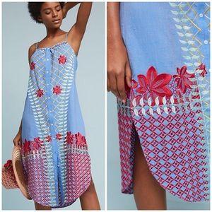 Anthro Estina Embroidered Dress